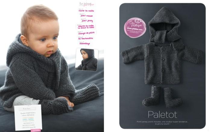 Tricot para bebe phildar
