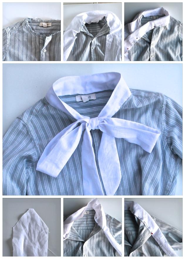 como añadir un lazo a una blusa