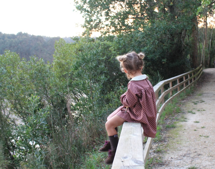 vestido de niña retro