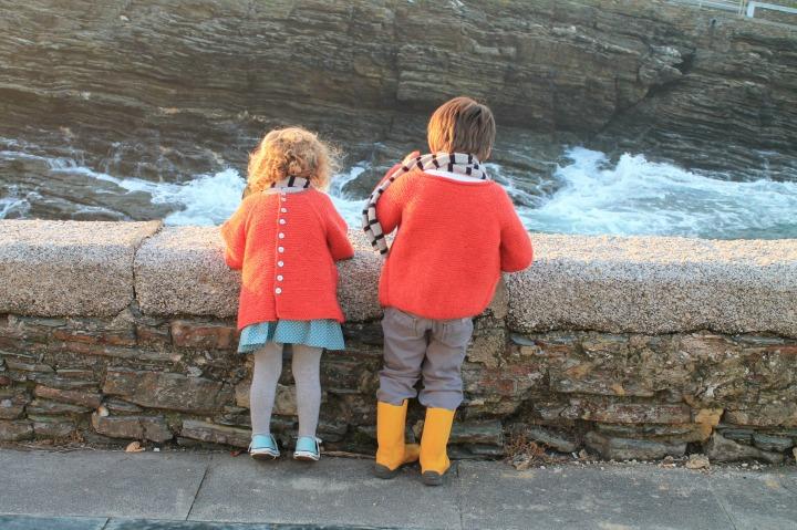chaquetas naranjas