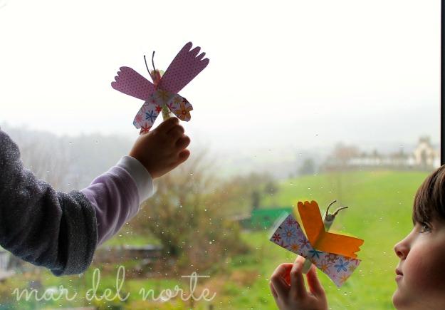 mariposas, manualidades, niños
