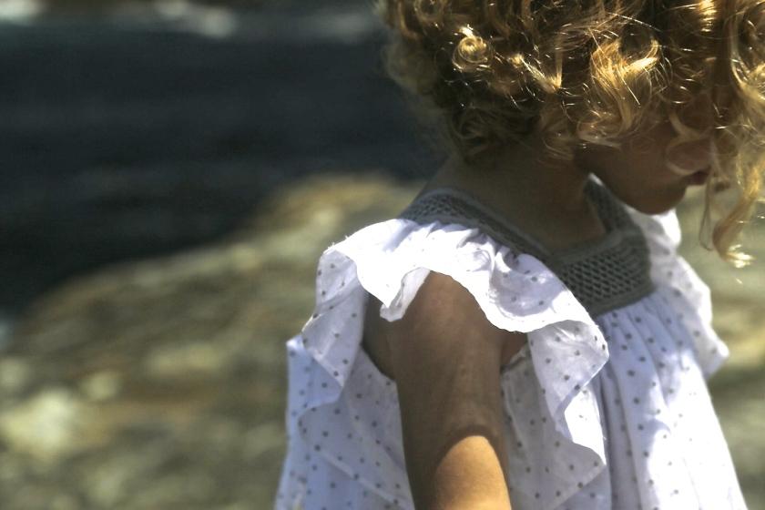 blusa niña volantes talla tres