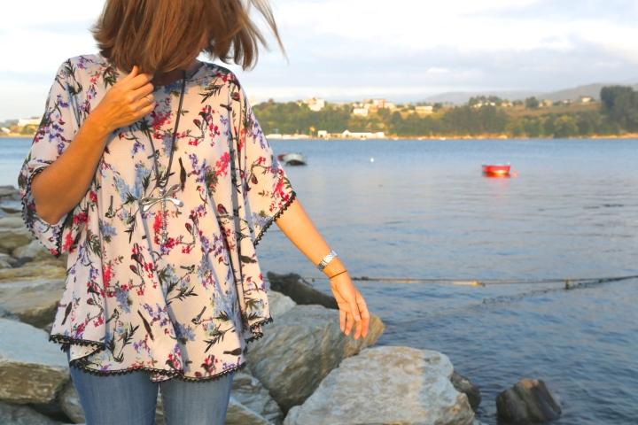 molde, patrón, blusón, camisola, oriental, kimono
