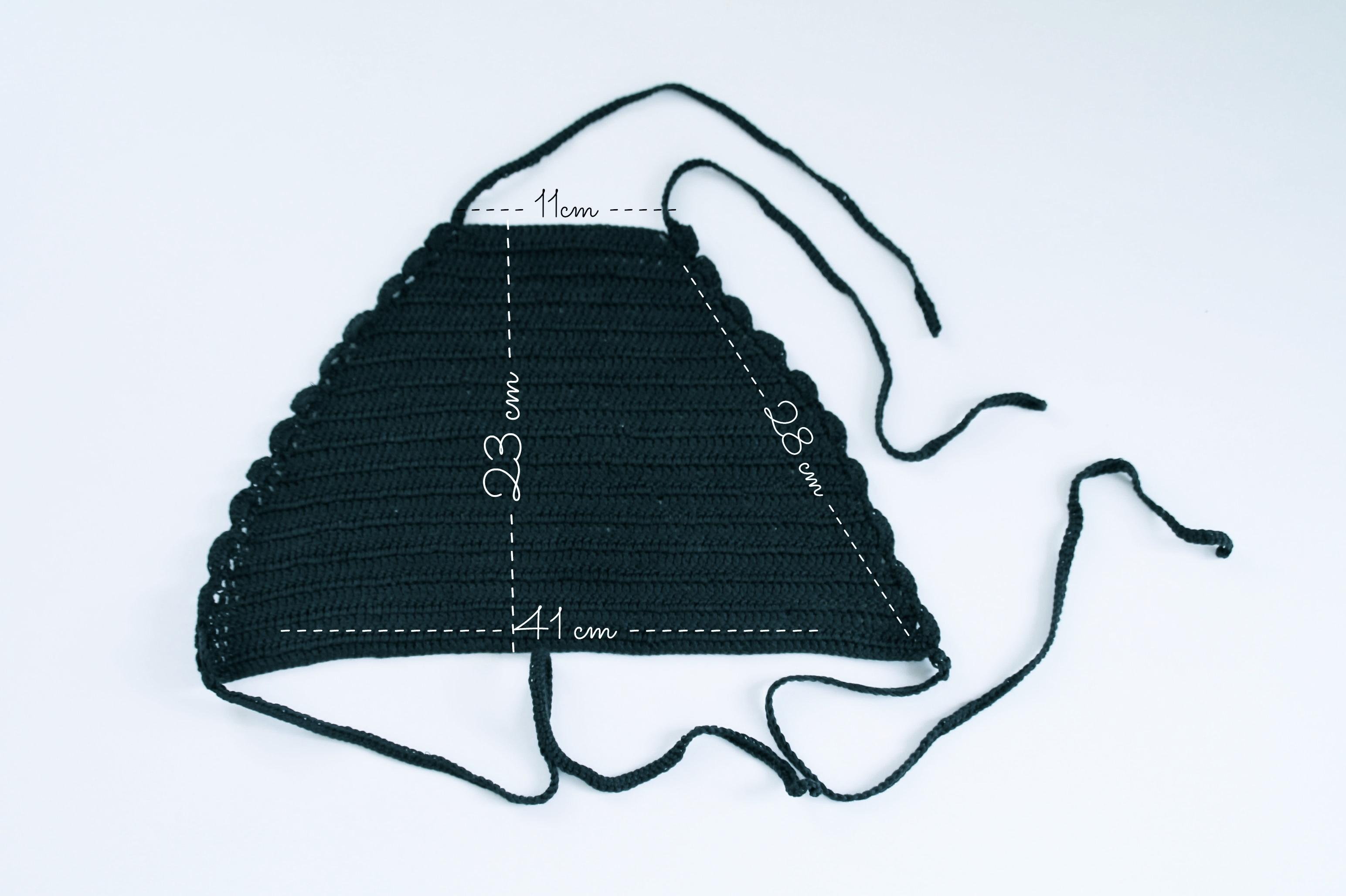 top halter crochet patrón |