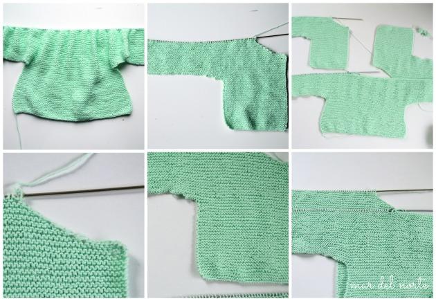 chaqueta punto verde