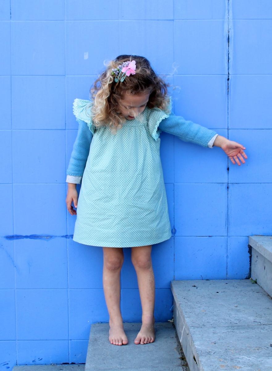 patrón vestido niña
