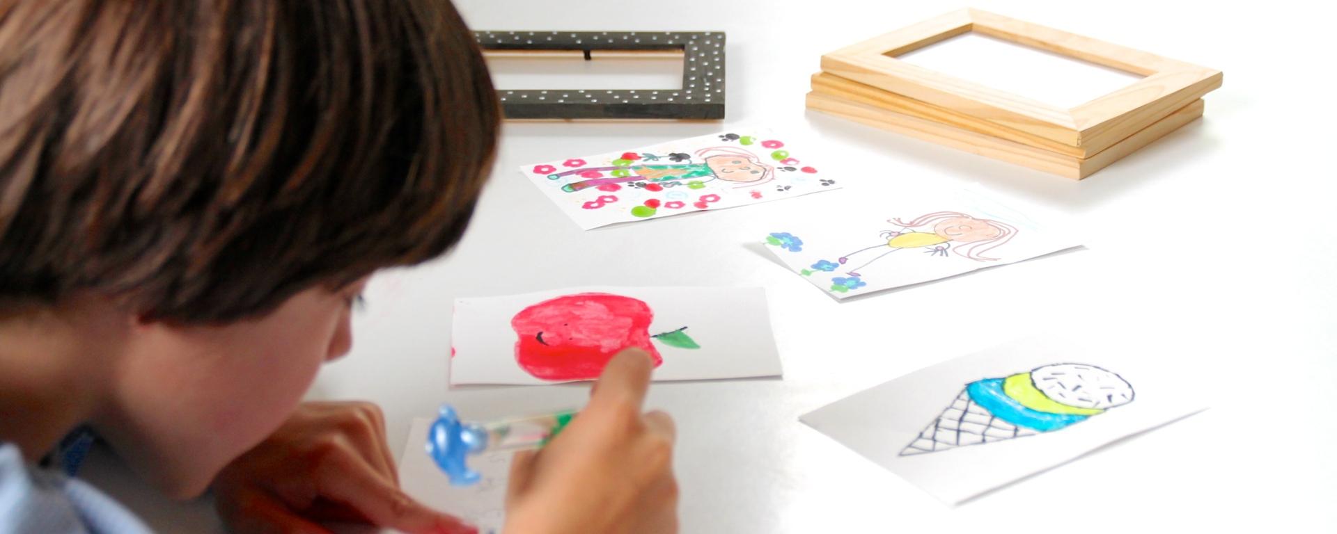 pintando con niños