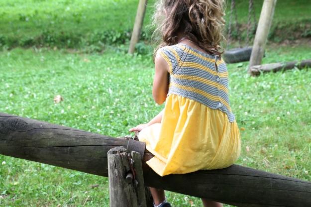 vestido de punto de niña