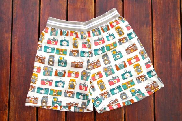 patrón short boxer niño