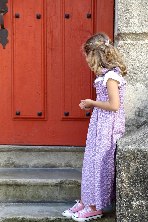 vestido niña con frunces