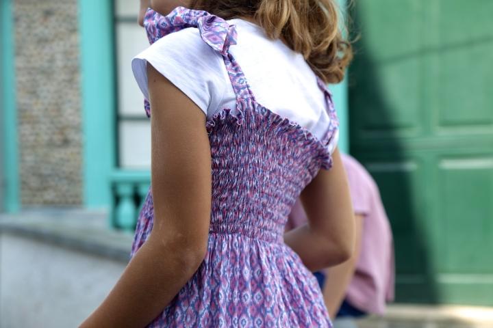 vestido con frunces