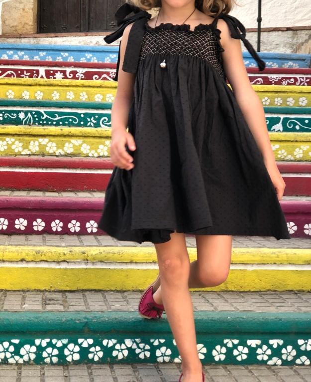 patrón vestido niña smock