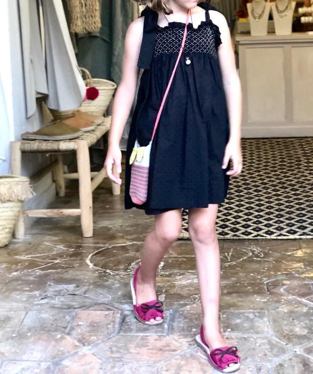 vestido niña bordado smock